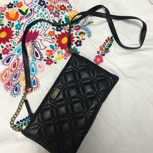 Kate Spade quilted black crossbody